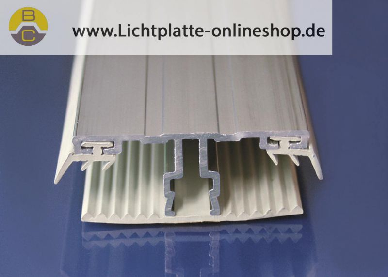 einfaches alu verlegeprofil mittelprofil 60 mm breit f r. Black Bedroom Furniture Sets. Home Design Ideas