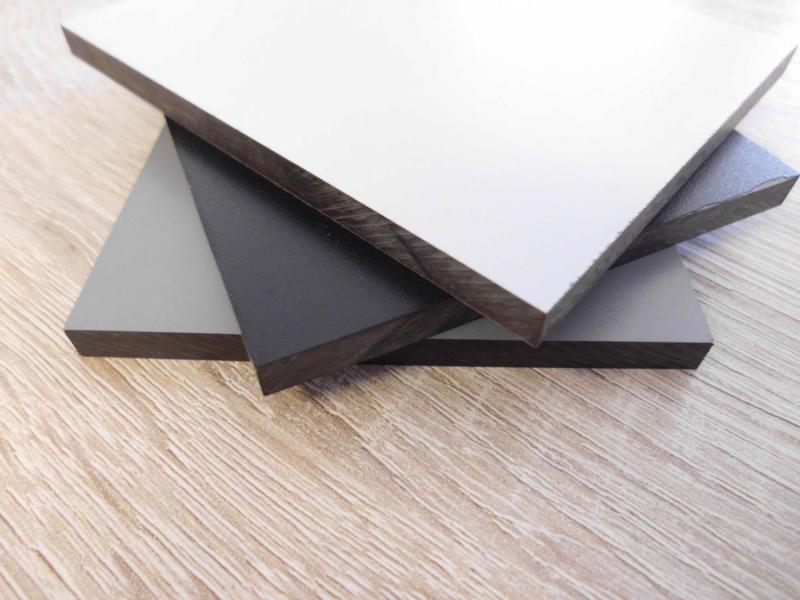HPL Schichtstoffplatte 6 mm Sichtschutz Balkongestaltung, schwarz ...