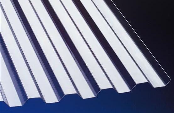 Polycarbonat Lichtplatte Trapez 0,8mm