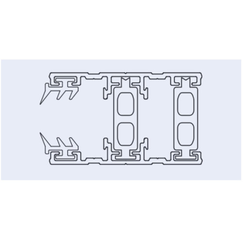 Stegplatte Randprofil Profile f/ür 16mm Stegplatten Alu//Alu 4,5 Meter